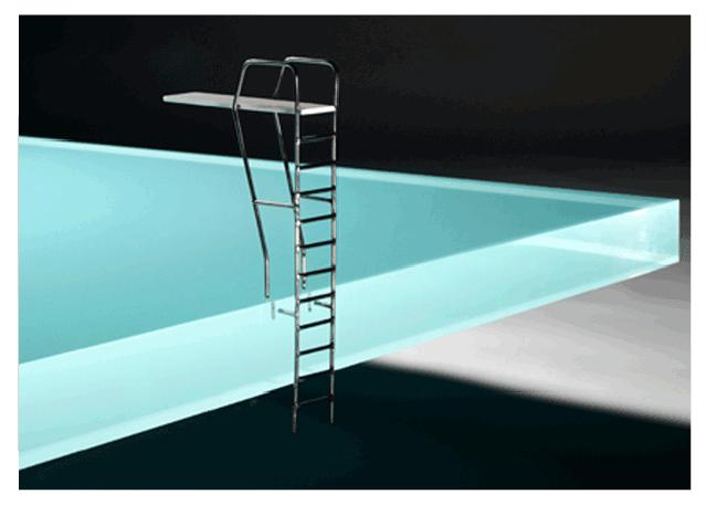 Una mesa con forma de piscina para tu sal n abrisud for Trampolin para piscina